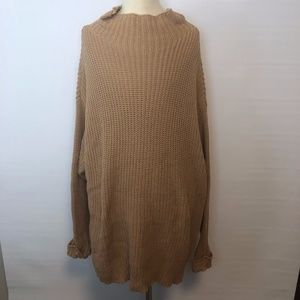 American Eagle Mustard Knit Sweater Pullover XS